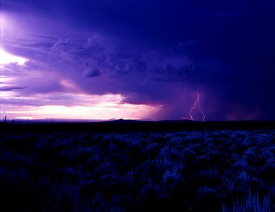 Big empty Arizona lightning