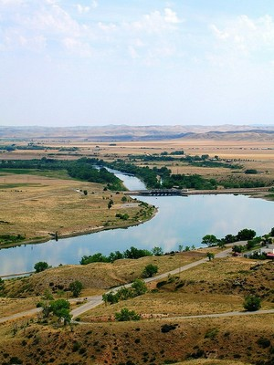 Bighorn River on Crow reservation by Michael R Swigart