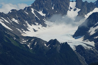 Blue glacier in Olympic National Park