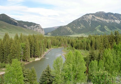 Hoback River by Scott Bosse via American Rivers