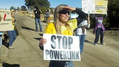 Transmission line protest