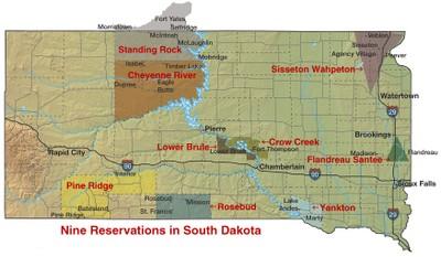 Standing Rock map
