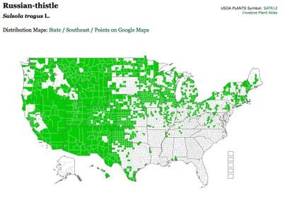 Tumbleweed map