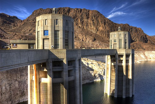 Nevada intake towers Lake Mead