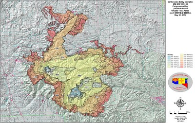 Fire map Whitewater Baldy Complex