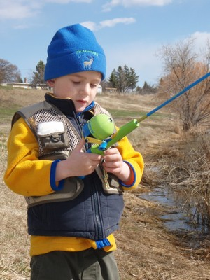 Aidan Long fishing