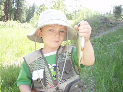 Aidan Long's first trout