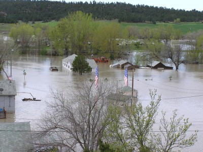 Hwy 12 Montana flooded
