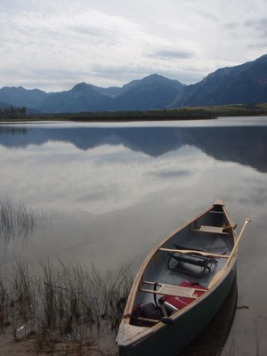 Canoe at Waterton Lakes NP Canada