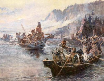 Lewis and Clark on Lower Columbia