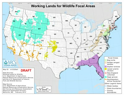 Working lands map