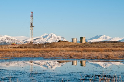 Rigs on the Blackfeet nation