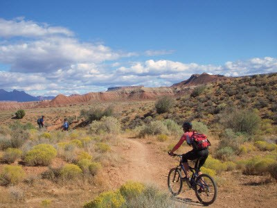 Bikers in Arches NP