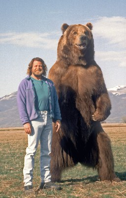 Doug Seus and his most famous movie bear, Bart.