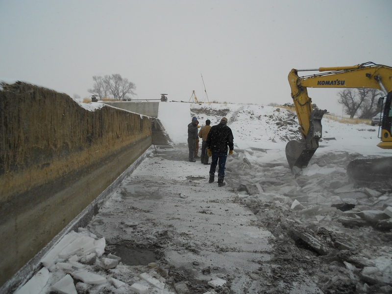 Engineers at Deadman's Diversion Dam