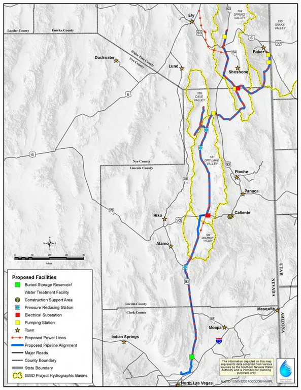 SNWA Pipeline map