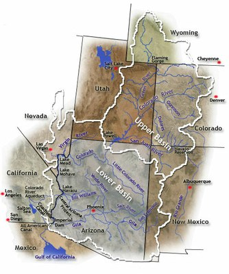 Map of Upper and Lower Basin States