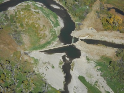 Deadman's Diversion Dam aerial 1