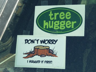 Tree Hugger Bumper Stickers
