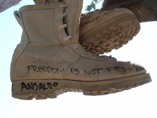 Ansaldo's army boots