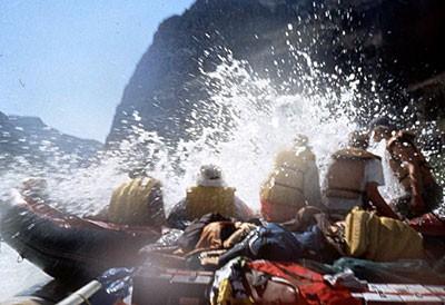Colorado river raft