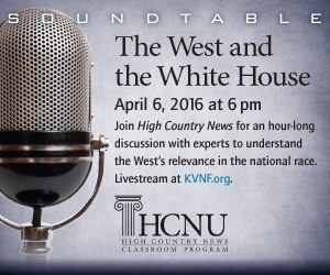 West and the White House - April 6 at 6 pm