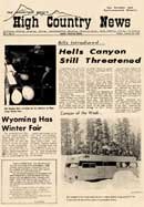 High Country News first front page