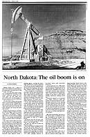 North Dakota Oil Boom HCN Cover