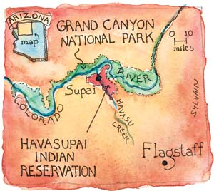 Problems in Paradise — High Country News on map of meteor crater, map of shoshone falls, map of grand canyon region, map of utah, map of havasu falls, map of monument valley, map of mooney falls, map of canyon de chelly,