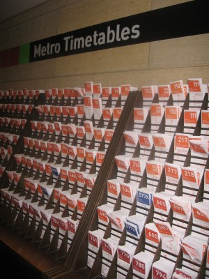 Union Station timetables