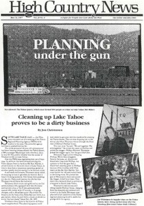 Planning under the gun: Cleaning up Lake Tahoe proves to be a dirty business