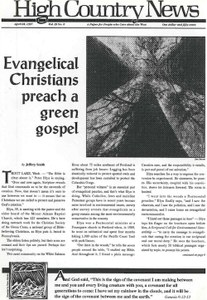 Evangelical Christians preach a green gospel