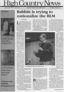 Babbitt is trying to nationalize the BLM