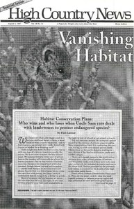 Vanishing habitat
