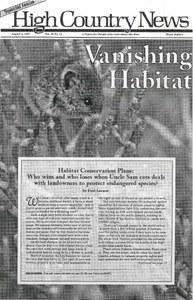 Vanishing habitat
