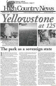 Yellowstone at 125: The park as a sovereign state