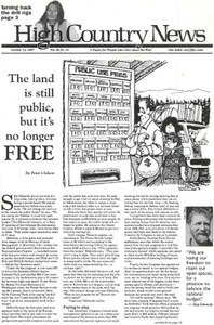 The land is still public, but it's no longer free