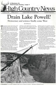 Drain Lake Powell? Democracy and science finally come West