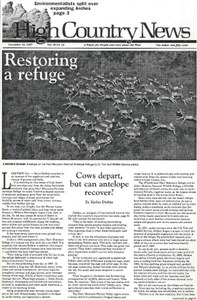 Restoring a refuge: Cows depart, but can antelope recover?