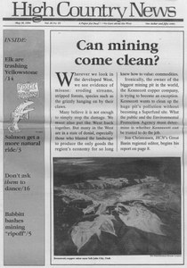 Can mining come clean?
