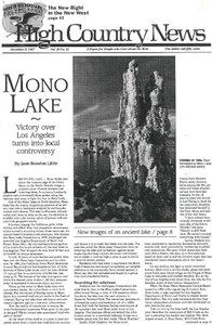 Mono Lake: Victory over Los Angeles turns into local controversy