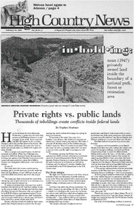 Private rights vs. public lands