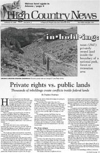 Private rights vs. public lands