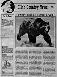'Extinct' grizzlies sighted in Colorado