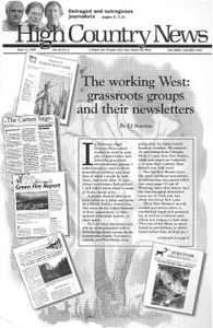 The working West: grassroots groups and their newsletters