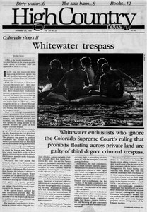 Whitewater trespass