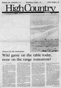 Wild game on the table today, none on the range tomorrow?