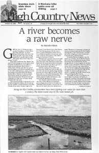 A river becomes a raw nerve