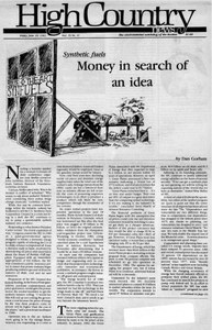 Money in search of an idea
