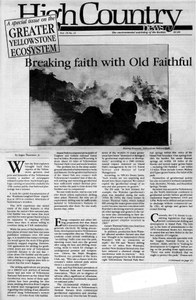 Breaking faith with Old Faithful